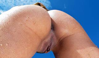 spiaggia ragazza foto di stoffa aperto il sesso